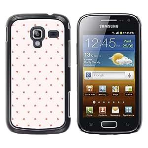 TopCaseStore / la caja del caucho duro de la cubierta de protección de la piel - Dot Pattern Wallpaper Pink Red - Samsung Galaxy Ace 2 I8160 Ace II X S7560M