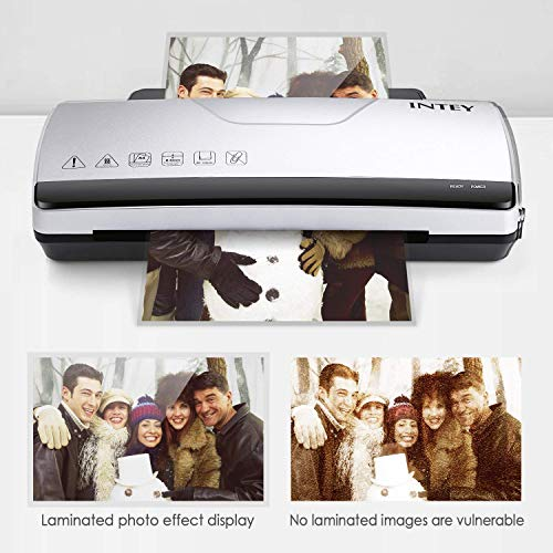 Large Product Image of INTEY Thermal Laminator Machine - Two Roller System Rapid Warm-up & Fast Laminate Speed 丨Fit for 3mil/5mil Thick, Letter/Legal/A4 Size Sheets (Gift:3ml Thermal Laminating Pouches 8.9