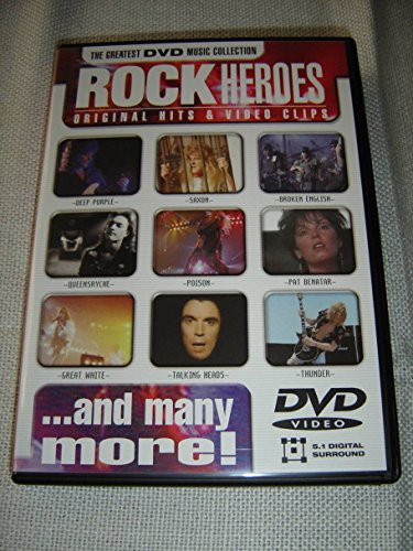 Rock Heroes / Original Hits & Video Clips / The Greatest DVD Music Collection / ENGLISH Language 5.1 Digital Surround [Region Free DVD] (Battlefield 3 Rock And A Hard Place)