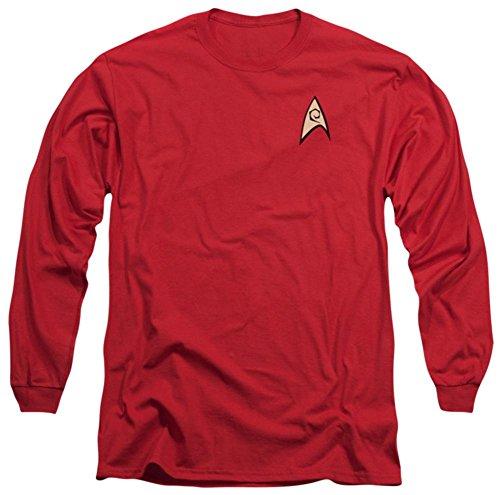 [Long Sleeve: Star Trek - Engineering Uniform Longsleeve Shirt Size L] (Star Trek Uniform Shirts)