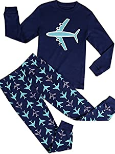 Babypajama Airplane Little Boys' Pajama Set Kids Nightwear Cotton 1-10 Years