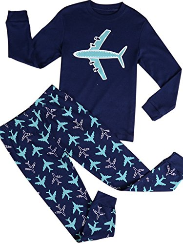 Babypajama Airplane Little Boys' Cartoon Pattern Long Sleeve