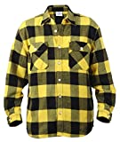 Rothco Heavy Weight Plaid Flannel Shirt, Yellow, Large