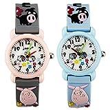 TIDOO Little Boys Pupils Gifts Ideas Lovely Cartoon Pig Jelly Waterproof Watch