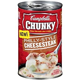 Campbell\'s Chunky Philly-style Cheesesteak Soup 18.8oz (Pack of 3)