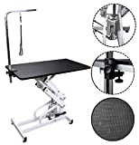 Lovupet 43'' Professional Pet Dog Z-Lift Hydraulic Grooming Table w/Arm Noose Rubber Mat 5009