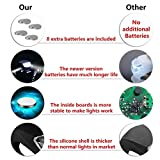 refun Bicycle Light - Front and Back Silicone LED Bike Light Set - 2 High Intensity Water Resistant Headlight - 2 Taillight for Cycling Safety– Spare Batteries Included