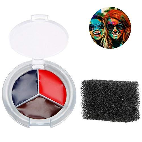 Makeup Spong+Halloween Makeup Face Paint Oil, Blood Scar Makeup Set (#05) -