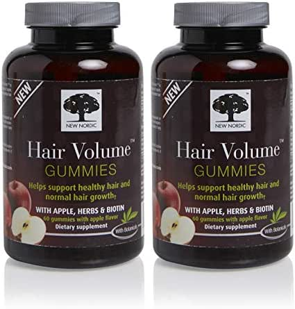 New Nordic Hair Volume Gummies, 60 Count (Pack of 2)
