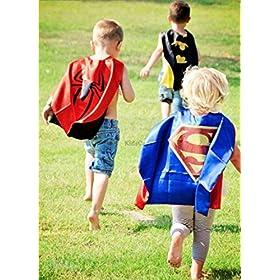 - 5132T0nL3nL - YOHEER Dress Up Costume Set of Superhero Satin Capes with Felt Masks for Kids