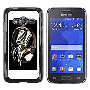iKiki Tech / Estuche rígido - Microphone Vintage Microphone - Samsung Galaxy Ace 4 G313 SM-G313F