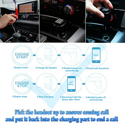 AOSILEY® Hands-Free Bluetooth Headset In-Ear Wireless Car