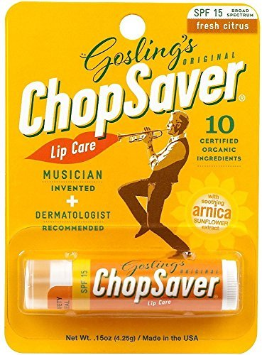 ChopSaver Gold Lip Balm with SPF15 Protection 0.15 oz (Pack of 2) by ChopSaver