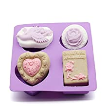 XUEXIN DIY hand soap silicone mold angel rose love then blossom combination mold