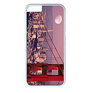 Generic Golden Gate Bridge and Full Moon Laser Technology Case Cover Skin Protector For iPhone 6 (4.7 Inch)