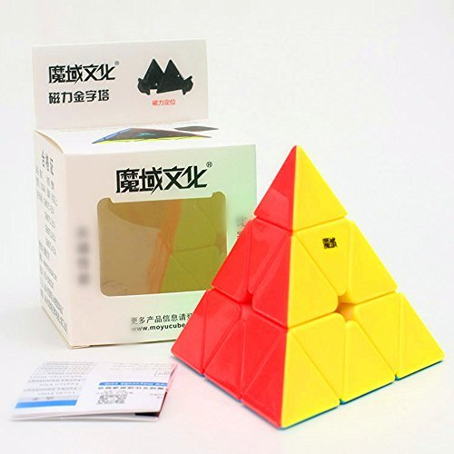 CuberSpeed MoYu Magnetic Pyramid Stickerless Magic cube Magnetic Pyramid color Speed cube