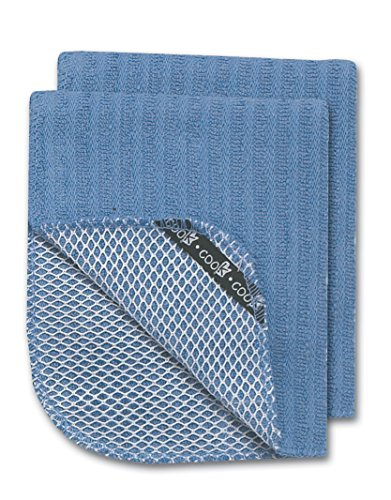 Kay Dee Designs R0799 Cook Scrubber Dishcloths (Set of 2), Blueberry