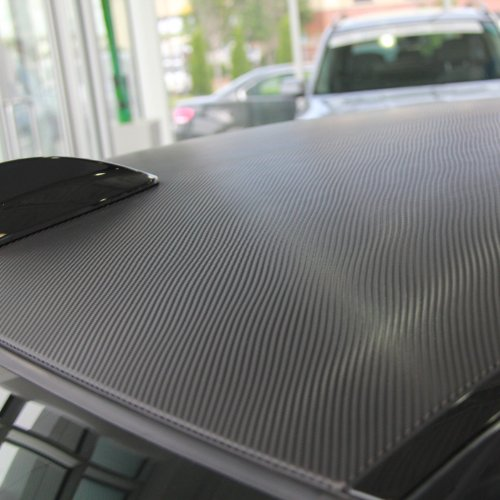 "TC 3D Carbon Fiber Vinyl Bubble-Free Film Wrap - BLACK 60"" x 59"""
