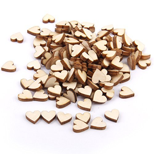 Lavillede Trucioli di legno a forma di cuore * 1 10 mm 3 mm di spessore * 1