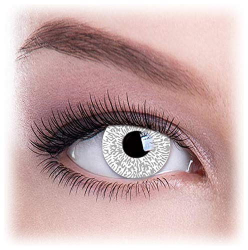 Women Multicolor Cute Charm and Attractive Eye Accessories Cosmetic Makeup Eye Shadow - Silver Glimmer with Contact Lens Case By Dress You Up TM]()