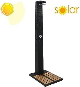 ZDYLM-Y Ducha Solar de Exterior con Boquilla de Ducha giratoria y Nivel Ajustable, Ducha de jardín con Ajuste de Calor y frío, para jardín al Aire Libre: Amazon.es: Deportes y aire libre