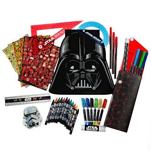 Innovative Designs Star Wars Ultimate Creative Art Kit Set for Kids Markers Pens Pencils Notepad, 200 Pieces