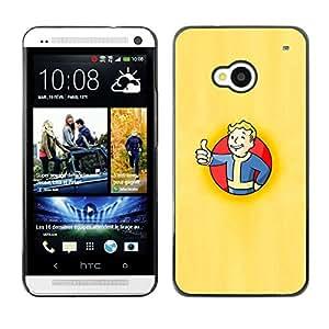 Fall0ut Boy Shelter - Metal de aluminio y de plástico duro Caja del teléfono - Negro - HTC One M7