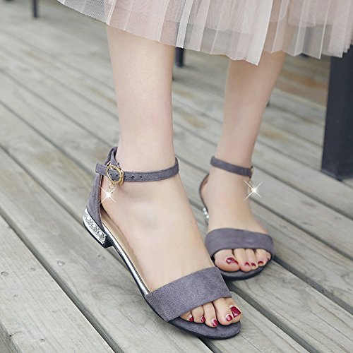 Party casual toes gray sandali Wedding casual Dance Ladies fashion YMFIE PxTHn