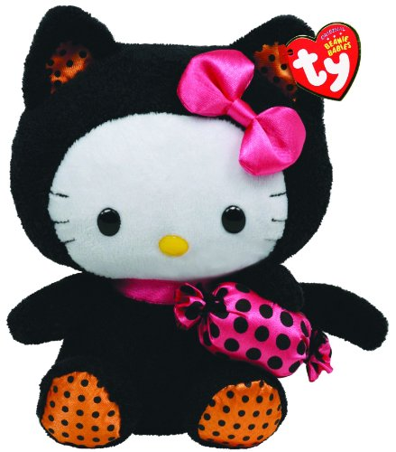 Hello Kitty Halloween Plush (Ty Beanie Baby Hello Kitty With Cat Outfit And)