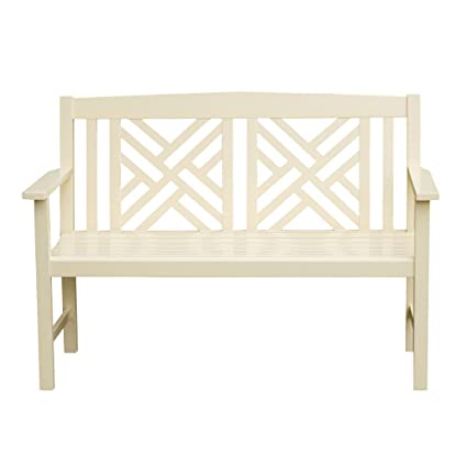 Peachy Amazon Com Achla Designs Fretwork Eucalyptus Wood Garden Machost Co Dining Chair Design Ideas Machostcouk