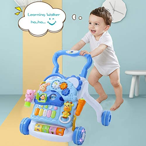 3 in 1 Baby Sit-to-Stand Walker Kids Activity Center Infants Music Educational Push Toy for Babies Entertainment Table w//Lights /& Sounds Detachable Panel Toddlers Boys Girls