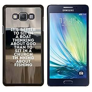 Dragon Case - FOR Samsung Galaxy A7 - fishing seaman god Christian hobby fun - Caja protectora de pl??stico duro de la cubierta Dise?¡Ào Slim Fit