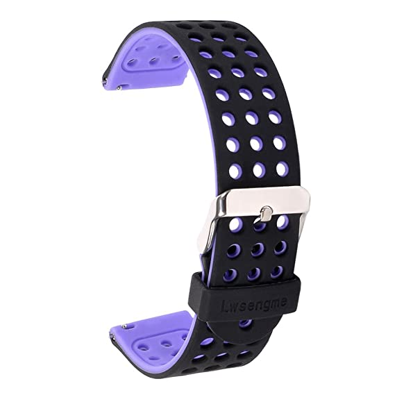 22mm Silicone Quick Release SmartWatch Bands for Moto 360 2 46mm / Samsung Gear 2,Gear 2 Neo,Gear 2 Live / LG G Watch W100,R W110,Urbane W150 / Pebble ...