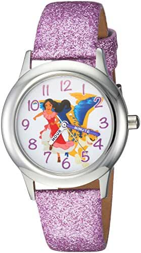 Disney Girl's 'Elena of Avalor' Quartz Stainless Steel Casual Watch, Color:Purple (Model: WDS000279)