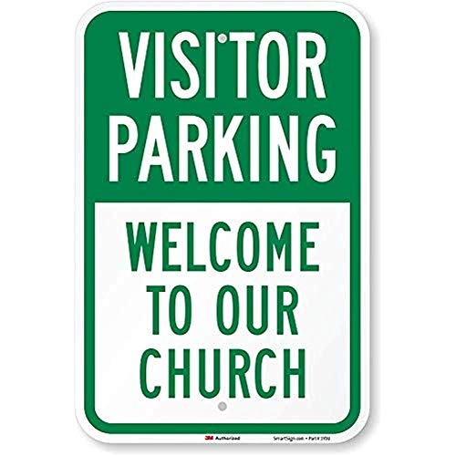 Diuangfoong Visitor Parking Welcome to Our Church Sign 12