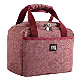 Bento Bag, Futemo Portable Insulated and Reusable Lunch Box Soft Cooler Bag Waterproof Thermal Work School Picnic Bento or Outdoor School Work Lightweight (Red)