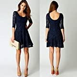 NEARTIME Women Dress, Lace Lady Party Evening Short Mini Dress (S)