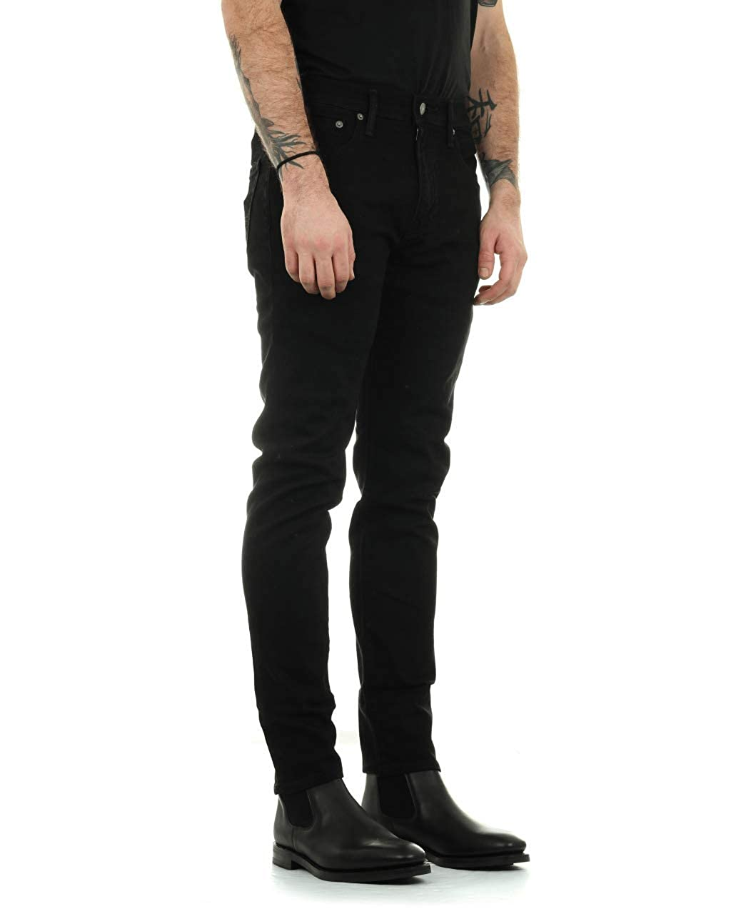 Levi's Hombre 512 delgados apretada cónica nightshine Jeans, Negro