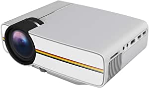 """Trex Yg400 Projector 1080p With 1200 Lumens 130"""""""" Large Screen For Home Cinema - white"""