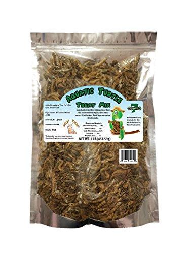 Aquatic Turtle Treat w/Fish Shrimp Mealworms Superworms Silkworm Pupae Crickets & Locusts (1 lb)