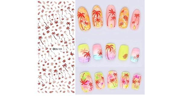 Arte de uñas: Calcomanías y autoadherentes Calcomanía Transferible ...
