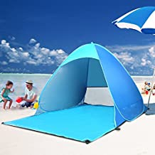 Itian Automatic Pop Up Portable Outdoors Family Beach Tent Quick Cabana Sun Shelter UPF 50+