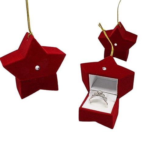 Caja de regalo de Navidad con 5 puntos, caja de regalo de Navidad (rojo