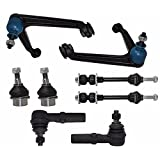 PartsW 8 Piece Kit Outer Tie Rod Ends Sway Bar End Links Lower Ball Joints Upper Control Arms