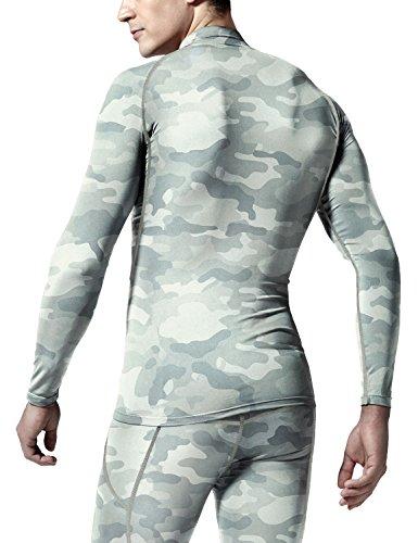 Tesla Men's Thermal WinterGear Compression Baselayer Mock Long Sleeve T Shirts YUT32 / YUZ47 / T32 / T42