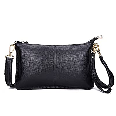 Mynos Women Crossbody Bag Genuine Leather Small Wallet Daily Clutch Purse Wristlet Smartphone Bag
