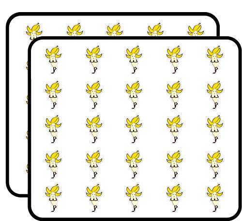 - Banana Yoga Cute Sticker for Scrapbooking, Calendars, Arts, Kids DIY Crafts, Album, Bullet Journals 50 Pack