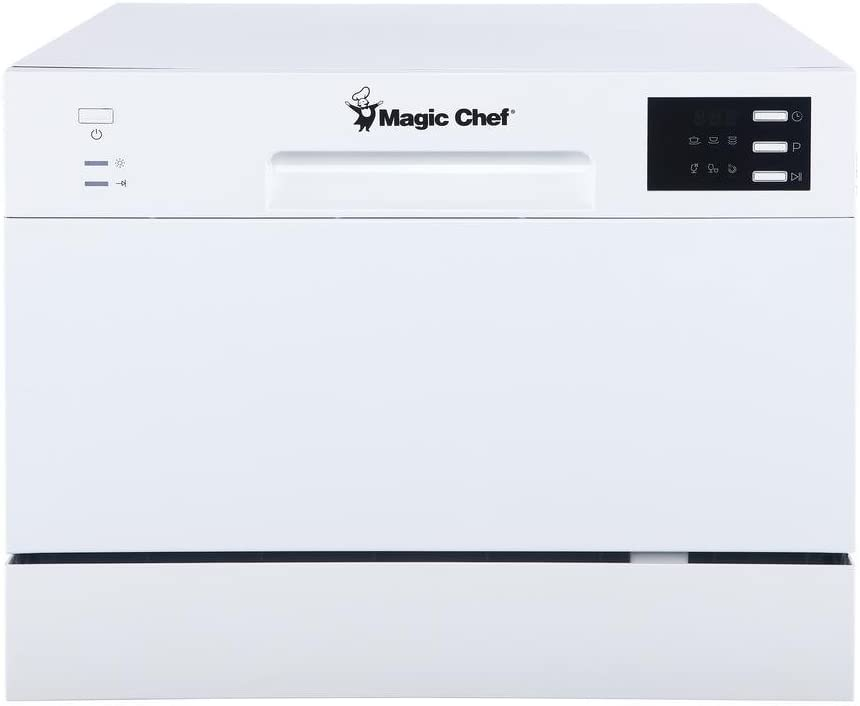 Magic Chef Energy Star 6-Place Setting MCSCD6W5 6 Plate Countertop Dishwasher