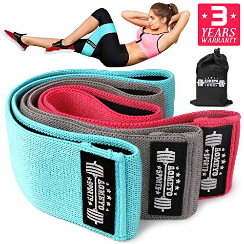 AOMEYO Resistance Exercise Bands for Legs and Butt, Booty Bands Wide Workout Bands Hip Band for Women and Men, Glute or Squat Workout Wide Stretching Gym Bands(2019 Upgraded)