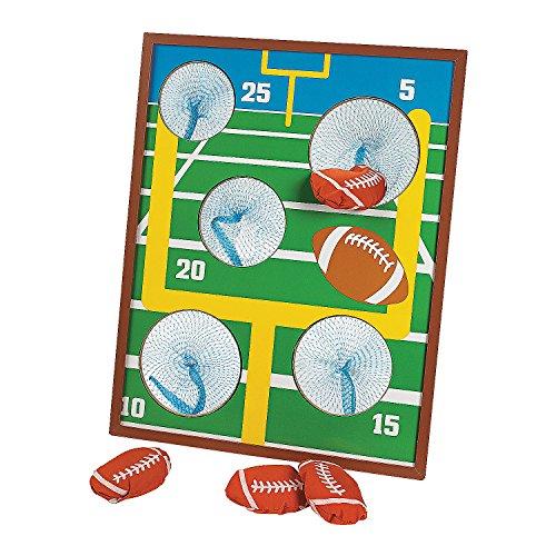 Fun Express - Football Toss Game - Toys - Games - Bean Bag Toss - 5 Pieces -